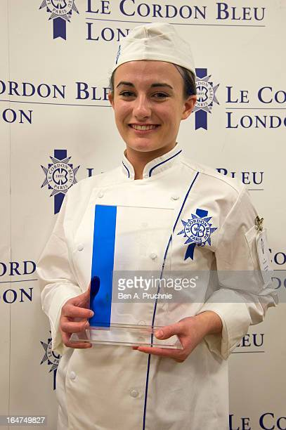 Zoe McReynolds is announced the winner of the UK's most prestigious hospitality scholarship the Le Cordon Bleu UK Scholarship Award 2013 receiving...