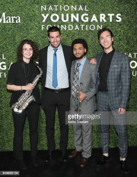 Zoe Obadia Gabe Schnider Anthony Hervey Raviv Markovitz attend National YoungArts Foundation New York Gala at The Metropolitan Museum of Art on April...