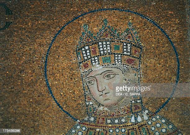 Zoe of Byzantium Byzantine empress from 1028 detail from the mosaic of Jesus Christ flanked by Empress Zoe and Emperor Constantine IX Monomachus...