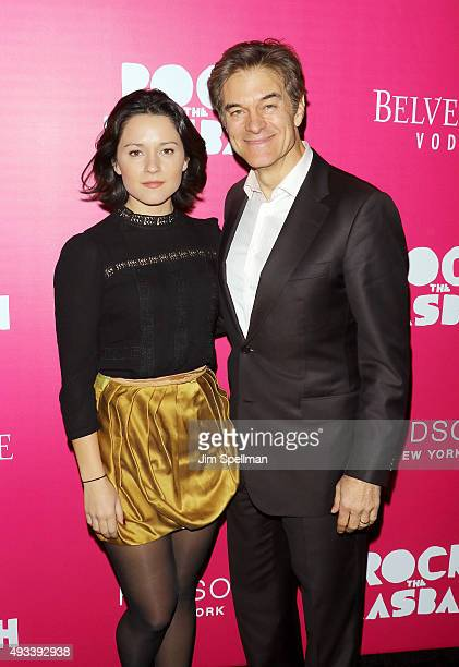 Zoe Oz and Dr Mehmet Oz attend the Rock The Kasbah New York premiere at AMC Loews Lincoln Square on October 19 2015 in New York City