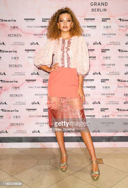 Zoe Pastelle at the Marcel Ostertag Fashion Show during the Berlin Fashion Week Spring/Summer 2020 at Westin Grand Hotel on July 03, 2019 in Berlin,...