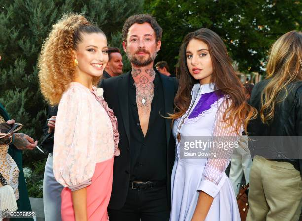 Zoe Pastelle Marcel Ostertag and Carina Zavline at the Marcel Ostertag Fashion Show during the Berlin Fashion Week Spring/Summer 2020 at Westin Grand...