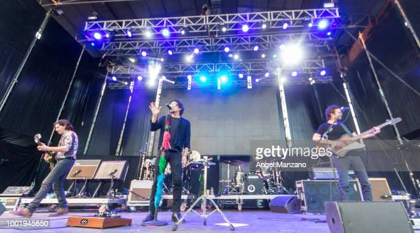 Zoe performs in concert at Las Noches del Botanico festival on July 19 2018 in Madrid Spain