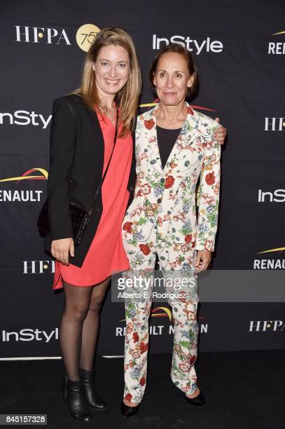 Zoe Perry and Laurie Metcalf attend the HFPA InStyle annual celebration of 2017 Toronto International Film Festival at Windsor Arms Hotel on...