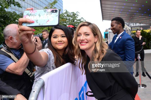 Zoe Perry poses with fans at at CTV Upfronts 2018 held at Sony Centre For Performing Arts on June 7 2018 in Toronto Canada