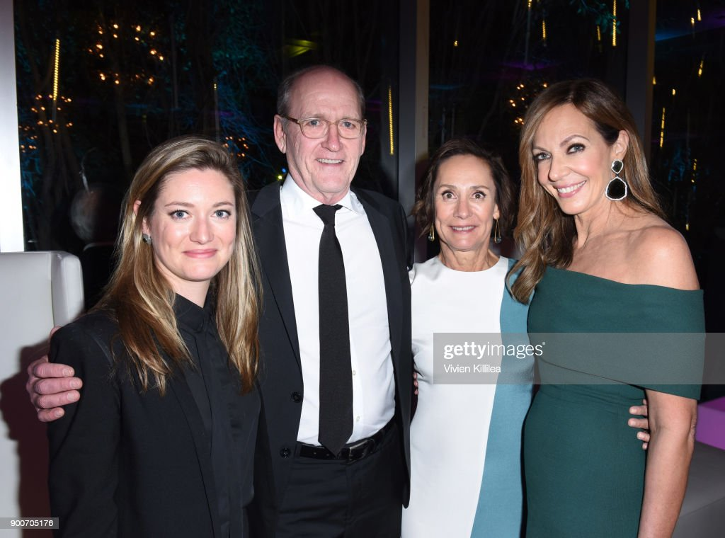 Zoe Perry, Richard Jenkins, Laurie Metcalf and Allison Janney attend the 29th Annual Palm Springs International Film Festival at Parker Palm Springs on January 2, 2018 in Palm Springs, California.