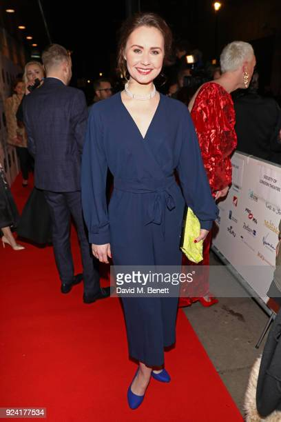 Zoe Rainey attends the 18th Annual WhatsOnStage Awards at the Prince Of Wales Theatre on February 25 2018 in London England