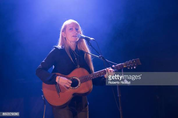 Zoe Randell of Australian indie folk music duo Luluc performs live on stage at Usher Hall on September 20 2017 in Edinburgh Scotland