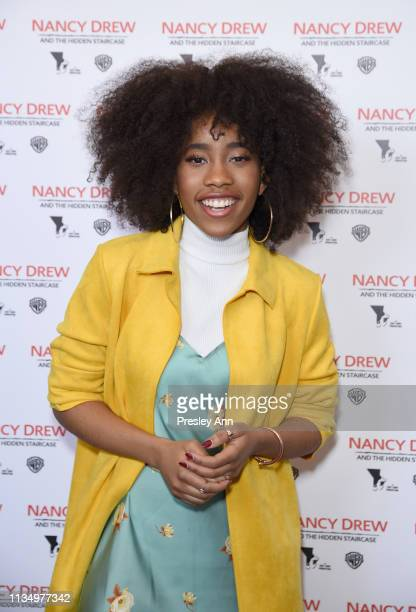 Zoe Renee attends the red carpet premiere of 'Nancy Drew and the Hidden Staircase' at AMC Century City 15 on March 10 2019 in Century City California...