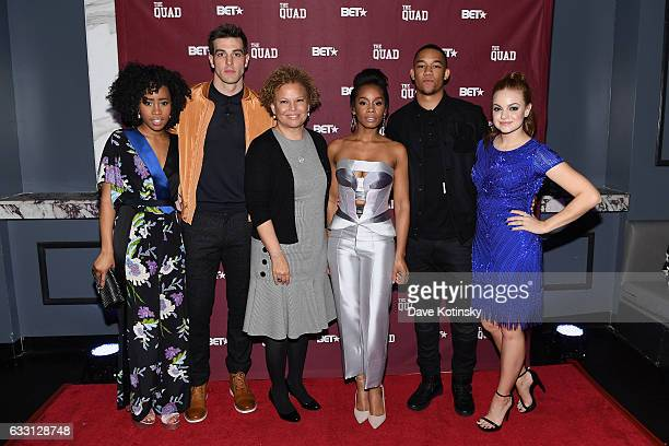 Zoe Renee Thomas Jake Allyn Debra Lee Anika Noni Rose Peyton Alex Smith and Michelle DeFraites attend the premiere screening of 'The Quad' by BET at...