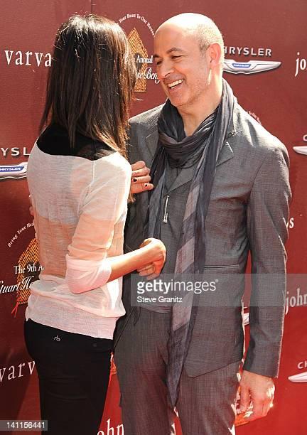 Zoe Saldana and John Varvatos attends The 9th Annual John Varvatos Stuart House Benefit at John Varvatos Los Angeles on March 11, 2012 in Los...