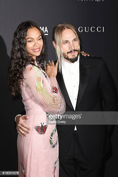 Zoe Saldana and Marco Perego attend the 2016 LACMA Art+Film Gala - Arrivals at LACMA on October 29, 2016 in Los Angeles, California.