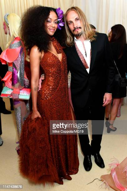 Zoe Saldana and Marco Perego attend The 2019 Met Gala Celebrating Camp: Notes on Fashion at Metropolitan Museum of Art on May 06, 2019 in New York...