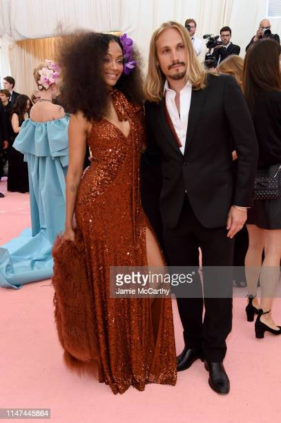 Zoe Saldana and Marco Perego attends The 2019 Met Gala Celebrating Camp: Notes on Fashion at Metropolitan Museum of Art on May 06, 2019 in New York...
