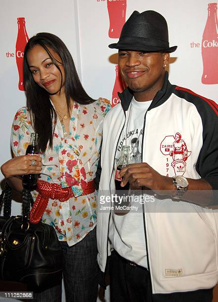 Zoe Saldana and NeYo during Coca Cola's Coke Side Of Life Launch Party at Capitale in New York City at Capitale in New York City New York United...