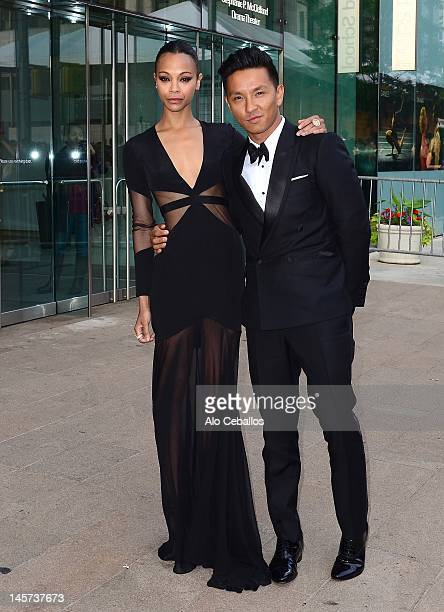 Zoe Saldana and Prabal Gurung attend the 2012 CFDA Fashion Awards at Alice Tully Hall on June 4, 2012 in New York City.