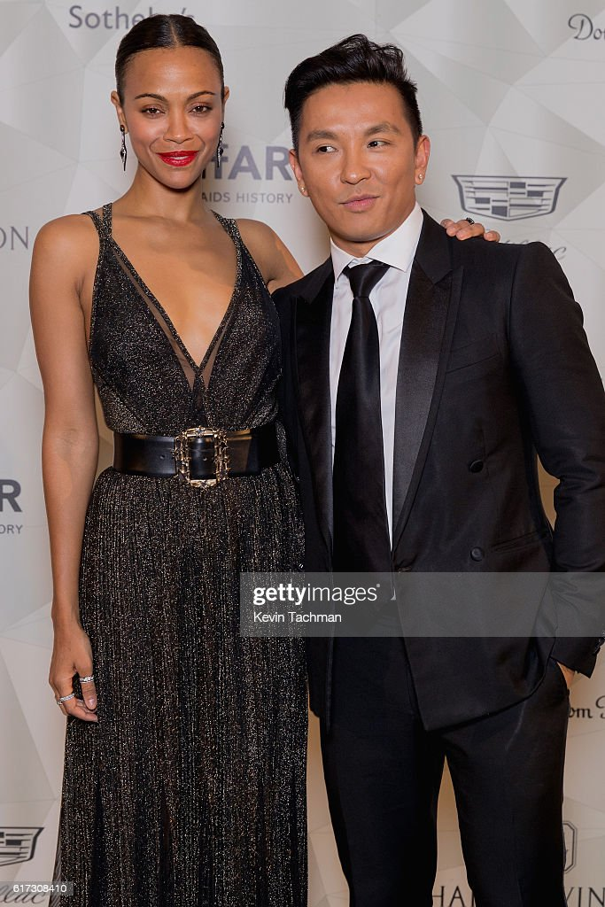 Zoe Saldana and Prabal Gurung attend TWO x TWO For AIDS and Art 2016 on October 22, 2016 in Dallas, Texas.