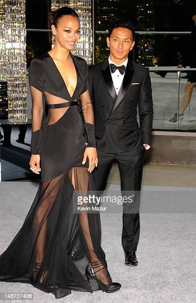 Zoe Saldana and Prabal Gurung attends 2012 CFDA Fashion Awards at Alice Tully Hall on June 4, 2012 in New York City.
