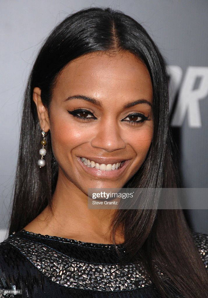 Zoe Saldana arrives at the Los Angeles premiere of 'Star Trek' at the Grauman's Chinese Theater on April 30, 2009 in Hollywood, California.