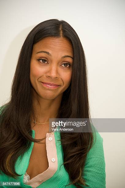 Zoe Saldana at the 'Star Trek Beyond' Press Conference at the Four Seasons Hotel on July 14 2016 in Beverly Hills California