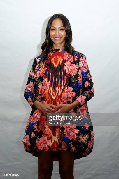 """Zoe Saldana at the """"Star Trek Into Darkness"""" Press Conference at the Corinthia Hotel on May 5, 2013 in London, England."""