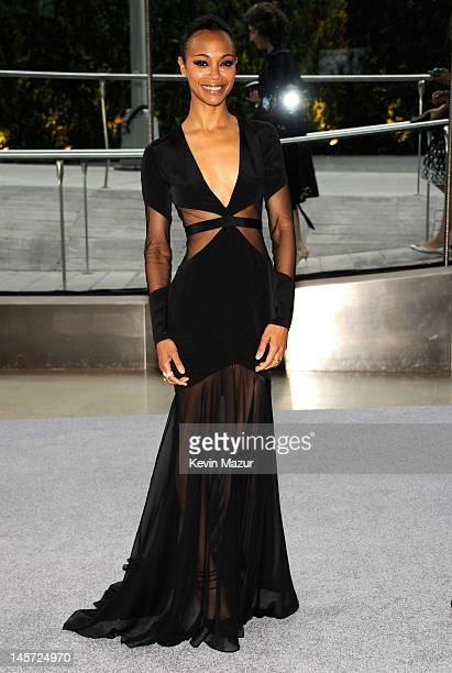Zoe Saldana attends 2012 CFDA Fashion Awards at Alice Tully Hall on June 4, 2012 in New York City.