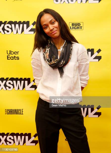 Zoe Saldana attends Featured Session: Changing the Narrative with Zoe Saldana during the 2019 SXSW Conference and Festivals at Austin Convention...
