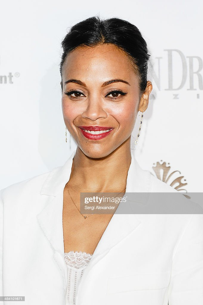 Zoe Saldana attends Niche Media Party Hosted By Zoe Saldana on December 6, 2013 in Miami Beach, Florida.