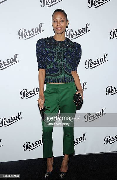 Zoe Saldana attends Persol Magnificent Obsessions 30 Stories Of Craftmanship In Film Event at Museum of the Moving Image on June 13 2012 in the...