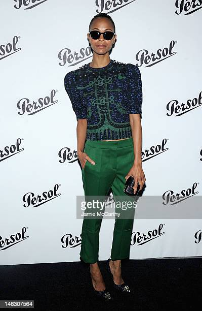 Zoe Saldana attends Persol Magnificent Obsessions: 30 Stories Of Craftmanship In Film Event at Museum of the Moving Image on June 13, 2012 in the...