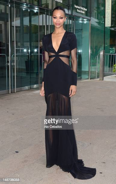 Zoe Saldana attends the 2012 CFDA Fashion Awards at Alice Tully Hall on June 4, 2012 in New York City.