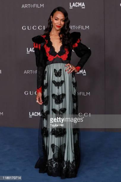 Zoe Saldana attends the 2019 LACMA Art Film Gala at LACMA on November 02 2019 in Los Angeles California