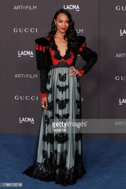 Zoe Saldana attends the 2019 LACMA Art + Film Gala at LACMA on November 02, 2019 in Los Angeles, California.
