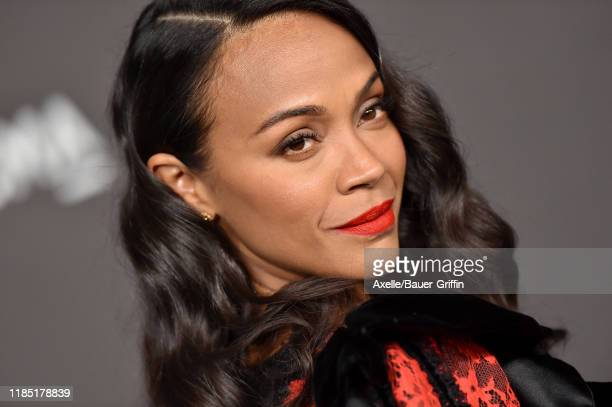 Zoe Saldana attends the 2019 LACMA Art + Film Gala Presented By Gucci on November 02, 2019 in Los Angeles, California.