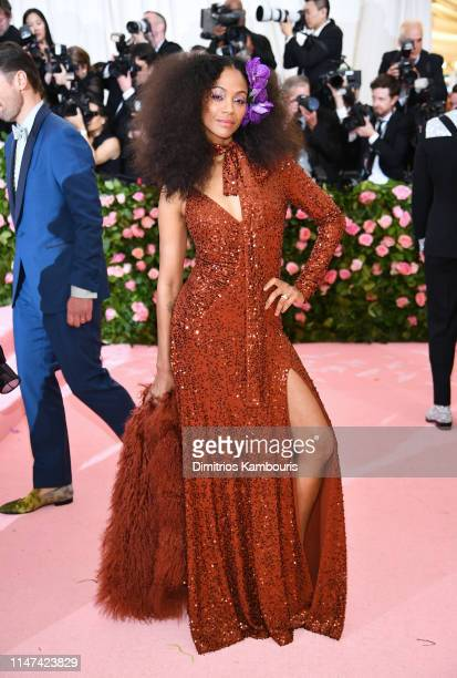 Zoe Saldana attends The 2019 Met Gala Celebrating Camp Notes on Fashion at Metropolitan Museum of Art on May 06 2019 in New York City