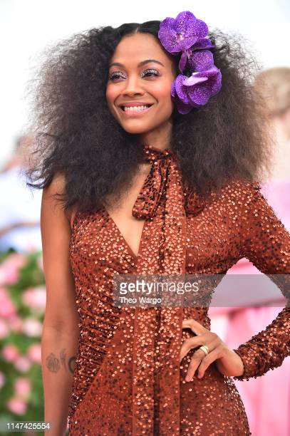 Zoe Saldana attends The 2019 Met Gala Celebrating Camp: Notes on Fashion at Metropolitan Museum of Art on May 06, 2019 in New York City.