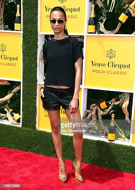 Zoe Saldana attends the 5th annual Vevue Clicquot Polo Classic at Liberty State Park on June 2, 2012 in Jersey City, New Jersey.