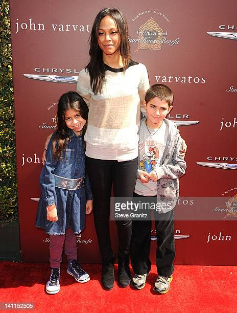 Zoe Saldana attends The 9th Annual John Varvatos Stuart House Benefit at John Varvatos Los Angeles on March 11, 2012 in Los Angeles, California.