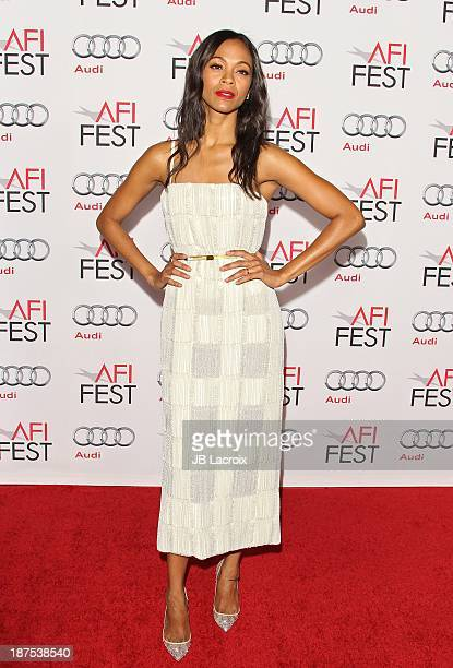 """Zoe Saldana attends the AFI FEST 2013 Presented By Audi - """"Out Of The Furnace"""" Premiere held at TCL Chinese Theatre on November 9, 2013 in Hollywood,..."""