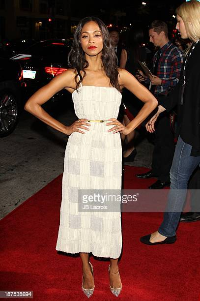 Zoe Saldana attends the AFI FEST 2013 Presented By Audi 'Out Of The Furnace' Premiere held at TCL Chinese Theatre on November 9 2013 in Hollywood...