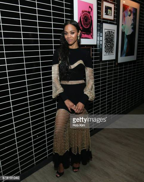 Zoe Saldana attends the afterparty for 'Guardians of the Galaxy Vol 2' presented by Remy Martin at The Skylark on May 3 2017 in New York City