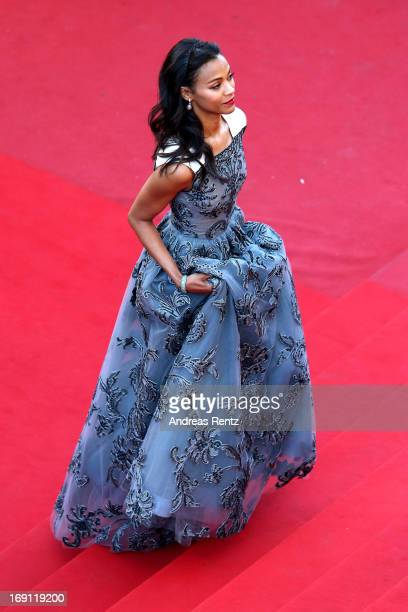 Zoe Saldana attends the 'Blood Ties' Premiere during the 66th Annual Cannes Film Festival at Grand Theatre Lumiere on May 20 2013 in Cannes France