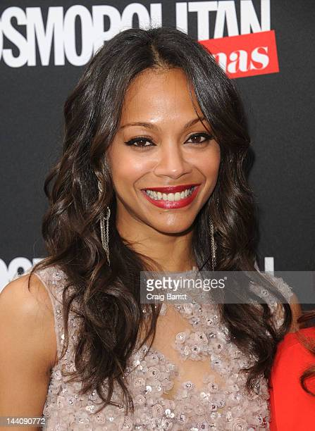 Zoe Saldana attends the Cosmopolitan For Latina's Premiere Issue Party at Press Lounge at Ink48 on May 9, 2012 in New York City.