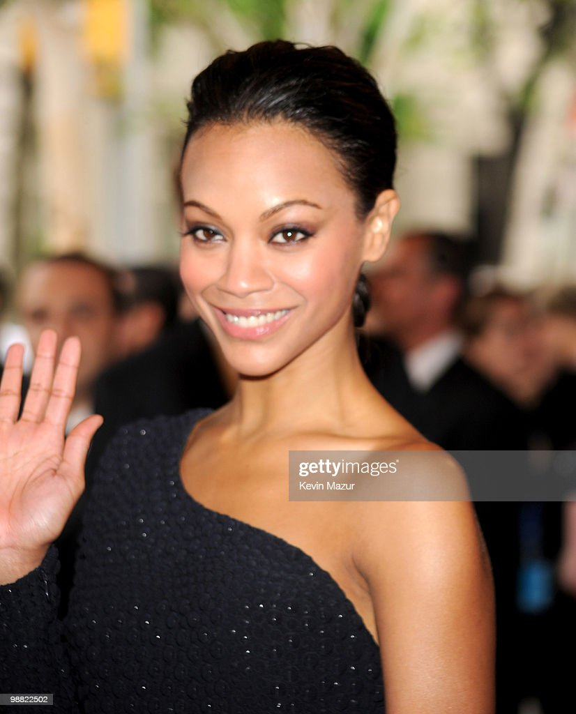 Zoe Saldana attends the Costume Institute Gala Benefit to celebrate the opening of the 'American Woman: Fashioning a National Identity' exhibition at The Metropolitan Museum of Art on May 3, 2010 in New York City.