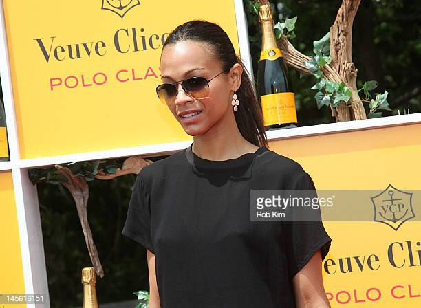 Zoe Saldana attends the Fifth-Annual Veuve Clicquot Polo Classic at Liberty State Park on June 2, 2012 in Jersey City, New Jersey.