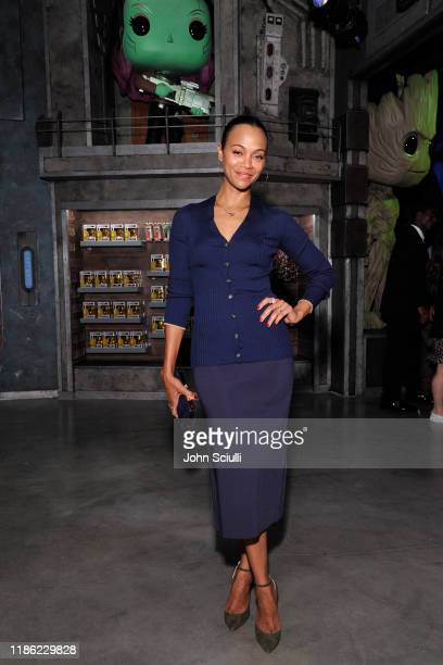 Zoe Saldana attends the Funko Hollywood VIP Preview Event at Funko Hollywood on November 07 2019 in Hollywood California