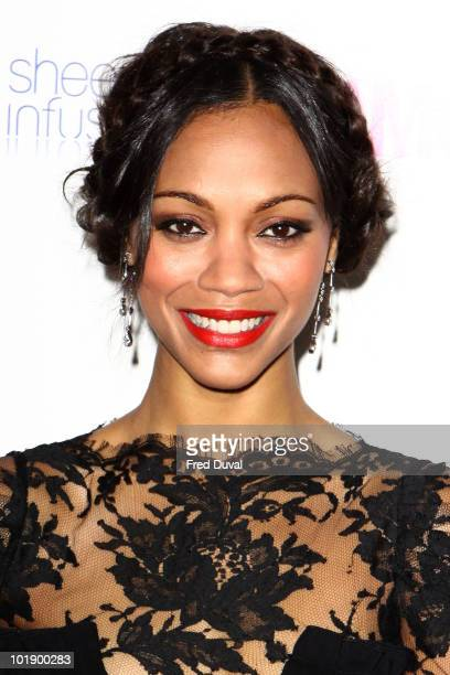 Zoe Saldana attends the Glamour Women of the Year awards at Berkeley Square Gardens on June 8 2010 in London England
