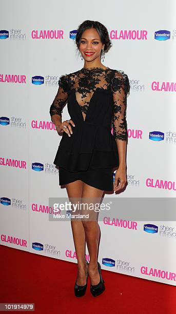 Zoe Saldana attends the Glamour Women of the Year awards at Berkeley Square Gardens on June 8, 2010 in London, England.