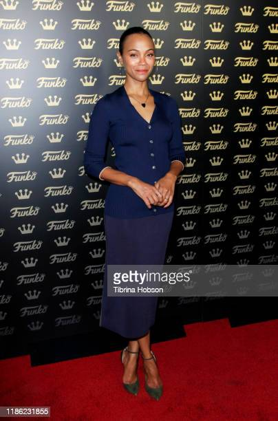 Zoe Saldana attends the grand opening of Funko Hollywood at Funko Hollywood Store on November 07, 2019 in Hollywood, California.