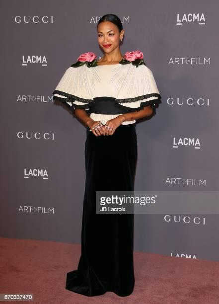 Zoe Saldana attends the LACMA Art + Film Gala honoring Mark Bradford and George Lucas on November 04, 2017 in Los Angeles, California.